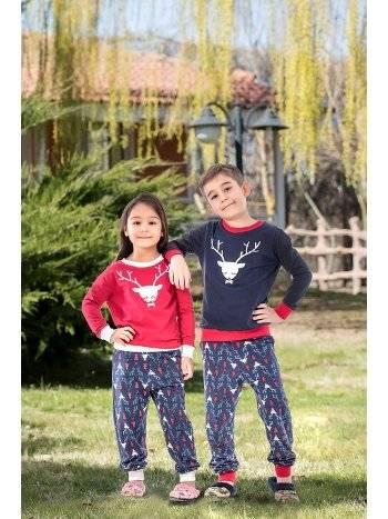2'li Viskon Kız Çocuk Pijama Takımı Yeni İnci CKP342