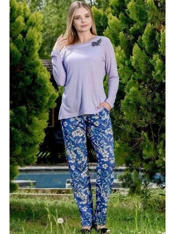 2'li Viskon Pijama Takımı Yeni İnci BPJ1656
