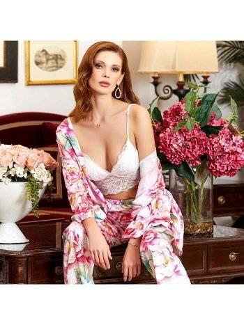 3'lü Dantelli Büstiyerli Pijama Takım Jeremi 3161