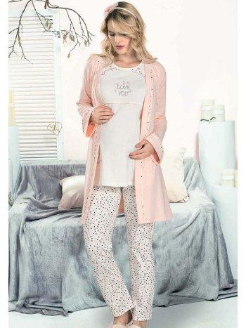 3lü I Love You Hamile Lohusa Pijama Takım FLZ 31-366