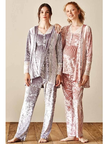 3lü Lohusa Pijama Takım Feyza 3915