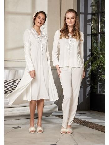 3'lü Sabahlıklı Pijama Takımı Jar Pierre 405