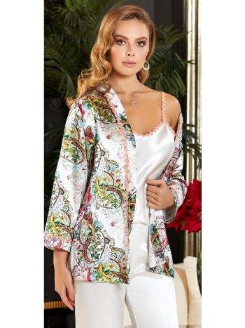 3'lü Saten Desenli Askılı Pijama Takım Jeremi 3140