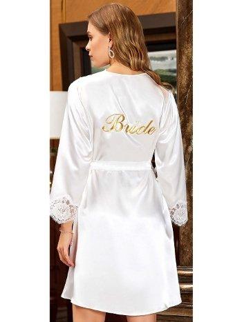 6'lı Saten Dantelli Gecelik Sabahlık Bride Takımları Seti Jeremi 1010