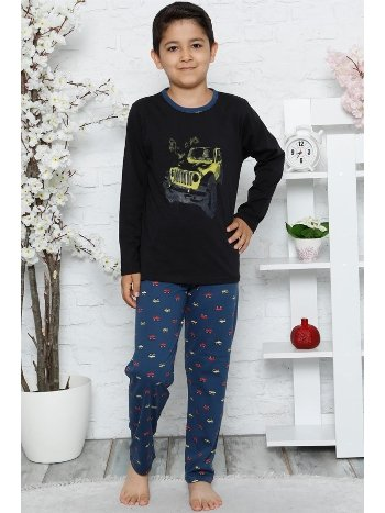 Akbeniz Çocuk Pamuk Uzun Kollu Pijama Takımı 4544