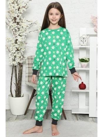Akbeniz Çocuk Pamuk Uzun Kollu Pijama Takımı 4546