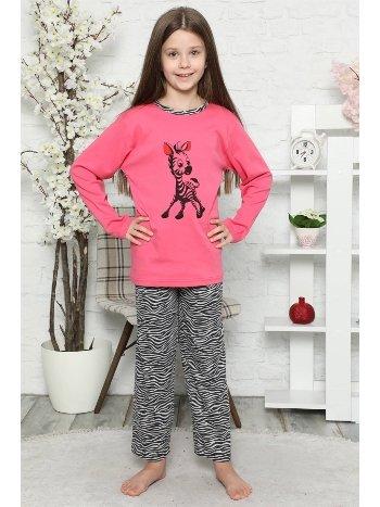 Akbeniz Çocuk Pamuk Uzun Kollu Pijama Takımı 4549