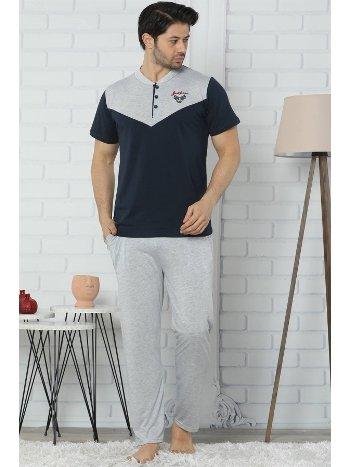 Akbeniz Erkek Lacivert Pijama Takım 6534