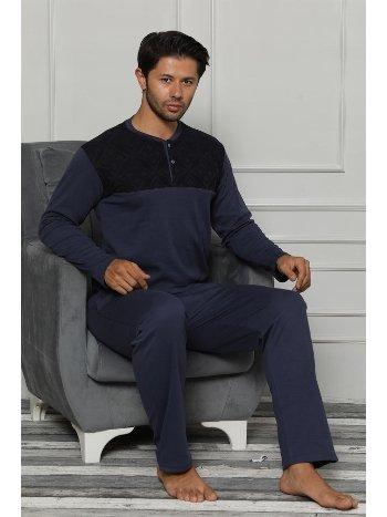 Akbeniz Erkek Pamuk Cepli Uzun Kollu Pijama Takımı 6699
