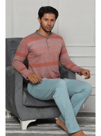 Akbeniz Erkek Pamuk Cepli Uzun Kollu Pijama Takımı 6706