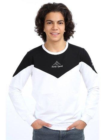 Akbeniz Erkek Siyah Beyaz Sweatshirt 2757