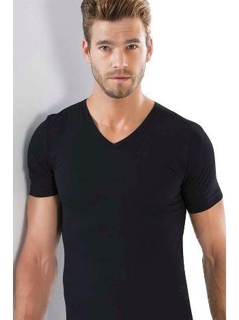 Akbeniz Erkek V Yaka Likralı Tshirt 6570