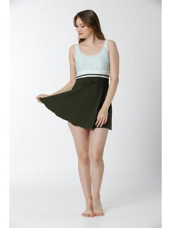 Akbeniz Slipli Likralı Elbise Tesettür Mayo 28135