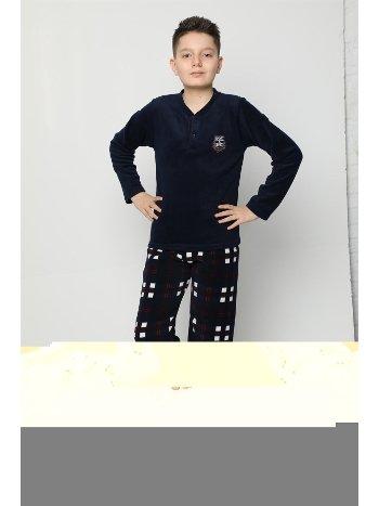 Akbeniz WelSoft Polar Erkek Çocuk Pijama Takımı 4529