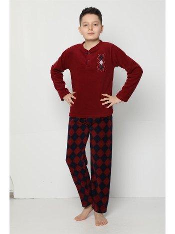 Akbeniz WelSoft Polar Erkek Çocuk Pijama Takımı 4530