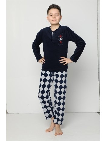Akbeniz WelSoft Polar Erkek Çocuk Pijama Takımı 4531