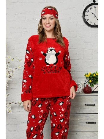 Akbeniz Welsoft Polar Kadın Pijama Takımı 8064