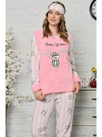 Akbeniz Welsoft Polar Kadın Pijama Takımı 8068