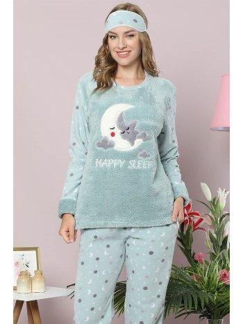 Akbeniz Welsoft Polar Kadın Pijama Takımı 8080