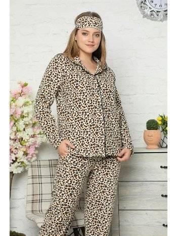 Akbeniz Welsoft Polar Önden Düğmeli Kadın Pijama Takımı 8081