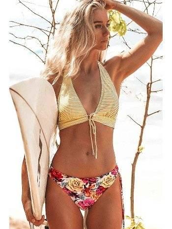 Angelsin Önden Bağlamalı Bikini Takım Çok Renkli
