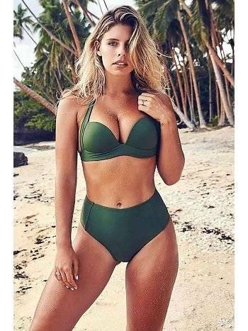 Angelsin Yeşil Yüksek Bel Bikini Takım