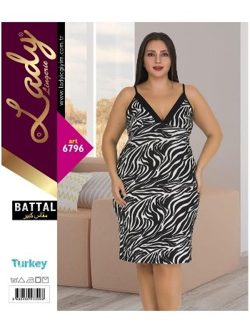 Battal Beden ip Askılı Tunik Lady 6796