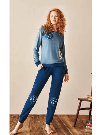 Bayan Kadife Pijama Takım Feyza 3955