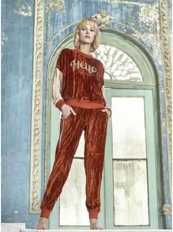 Bayan Kadife Pijama Takım Miss Loren 2014