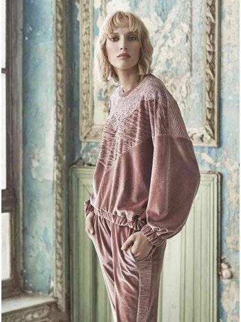 Bayan Kadife Pijama Takım Miss Loren 2016