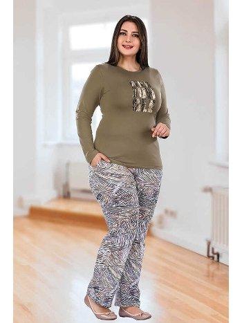Berland 3024 Büyük Beden Bayan Pijama Takımı