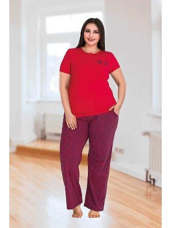 Berland 3132 Büyük Beden Bayan Pijama Takımı