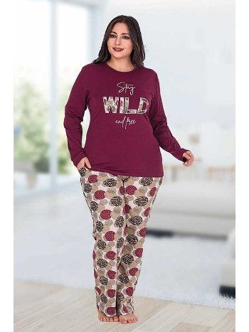 Berland 3185 Büyük Beden Bayan Pijama Takımı