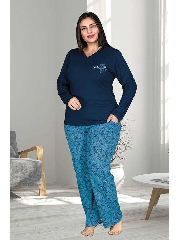 Berland 3220 Büyük Beden Bayan Pijama Takımı