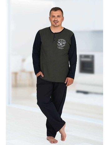 Berland 3763 Büyük Beden Erkek Pijama Takımı