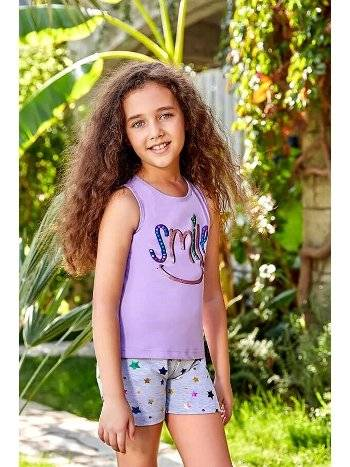 Berrak 5520 Kız Çocuk Şort Takım