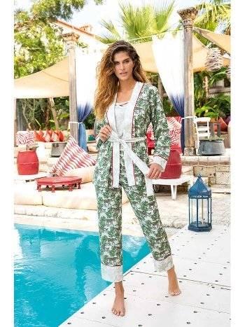 Berrak 874 Bayan Üçlü Pijama Takımı