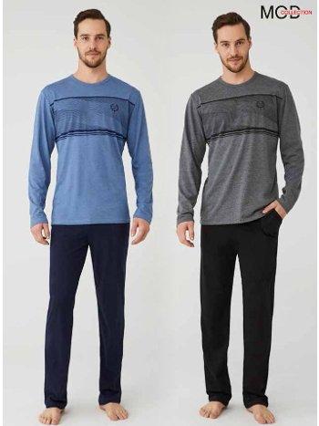 Bisiklet Yaka Erkek Pijama Takım Mod Collection 3337