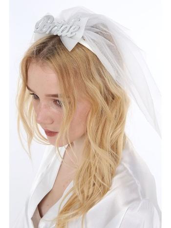 Bride Tüllü Duvaklı Taç Toka Asimod ASI2020TAC06