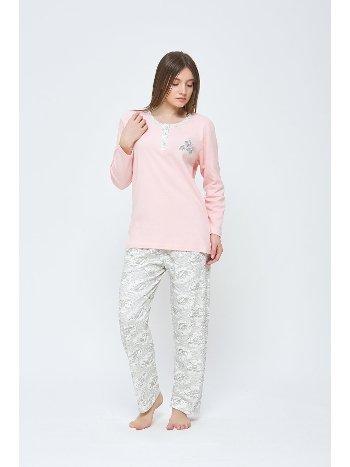 Büyük Beden Kışlık Penye Pijama Takımı Estiva 20308