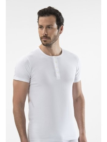 Cacharel - Düğmeli kısa kollu t-shirt 1308/BEYAZ