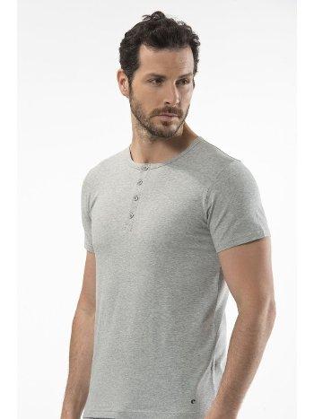 Cacharel - Düğmeli kısa kollu t-shirt 1308/GRİ