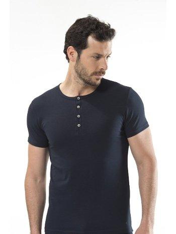 Cacharel - Düğmeli kısa kollu t-shirt 1308/LACİVERT