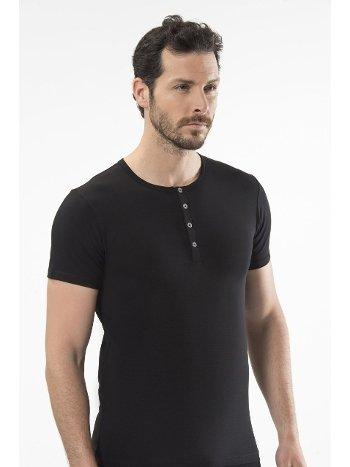 Cacharel - Düğmeli kısa kollu t-shirt 1308/SİYAH