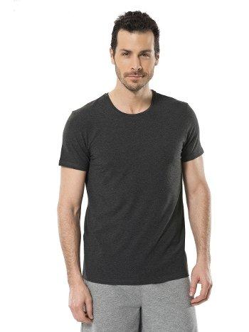 Cacharel Erkek Likralı O Yaka T-shirt 1331/ANTRASİT