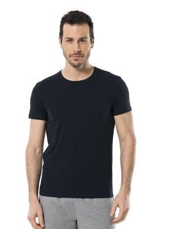 Cacharel Erkek Likralı O Yaka T-shirt 1331/LACİVERT