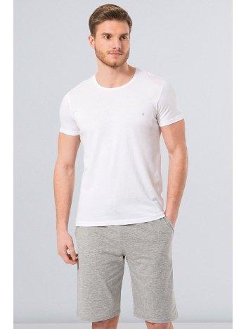Cacharel Erkek T-Shirt (Slim Fit) 2169/BEYAZ