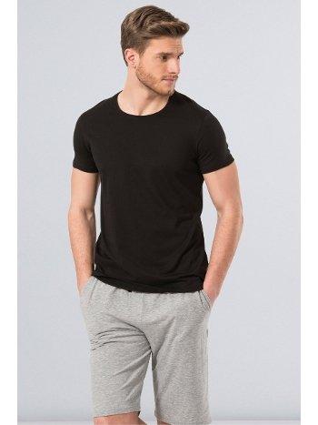Cacharel Erkek T-Shirt (Slim Fit) 2169/SİYAH