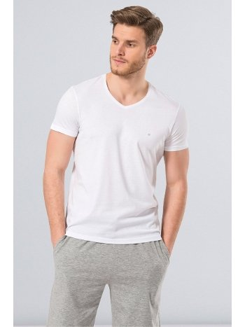 Cacharel Erkek T-Shirt (Slim Fit) 2170/BEYAZ