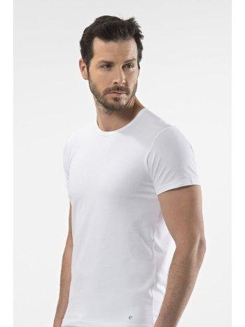 Cacharel - O yaka kısa kollu t-shirt 1305/BEYAZ